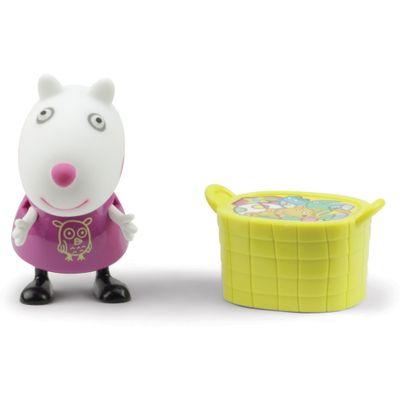 Figura-com-Acessorio---10-cm---Peppa-Pig---Suzy-com-Cesta-de-Flores--DTC