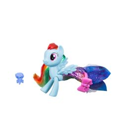 Figura-My-Little-Pony-Movie---15-cm---Moda-Terrestre-e-Marinha---Rainbow-Dash---Hasbro
