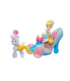 Mini-Boneca-com-Acessorios---Princesas-Disney---Cinderela-e-a-Carruagem-de-Sapatinho-Real---Hasbro