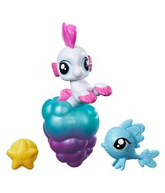 Mini-Figura-My-Little-Pony-com-Acessorios---Mini-Ponei-Sereia---Sea-Poppy---Hasbro