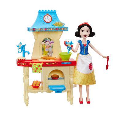 Playset-com-Boneca-Princesas-Disney---Cozinha-da-Branca-de-Neve---Hasbro