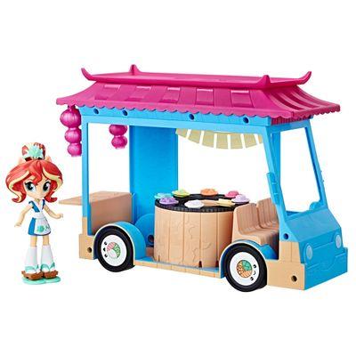 Playset-My-Little-Pony---25-cm---Equestria-Girls---Food-Truck-de-Sushi---Sunset-Shimmer---Hasbro