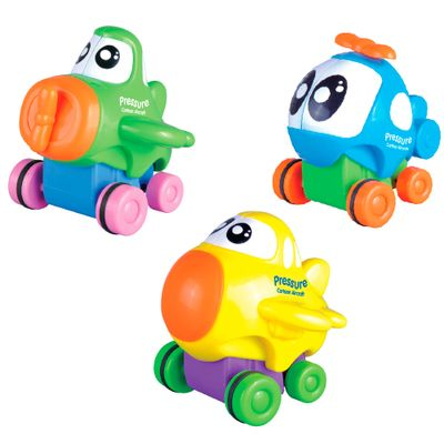 Conjunto-Mini-Veiculos---Aerobee---Avioes-com-Rodinhas---Bee-Me-Toys
