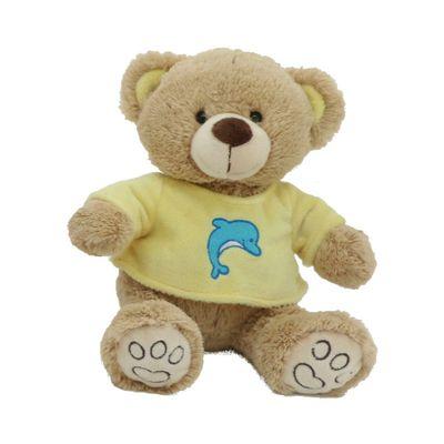 Pelucia-30-Cm---Ursinho-Pardo-com-Camisa---Camisa-Amarelo---Bee-Me-Toys