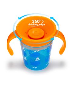 Copo-de-Treinamento---177-ml---Miracle-360---Deco---Laranja-e-Azul---Munchkin