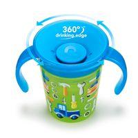 Copo-de-Treinamento---177-ml---Miracle-360---Deco---Azul-e-Verde---Munchkin