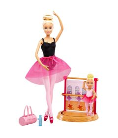 Conjunto-de-Bonecas---Barbie---Barbie-Profissoes---Professora-de-Ballet---Mattel
