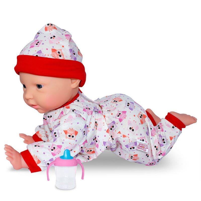a303d6a9cd3c35 Boneca Bebê - Dudu Engatinha - Roupa Corujinha - Baby Brink