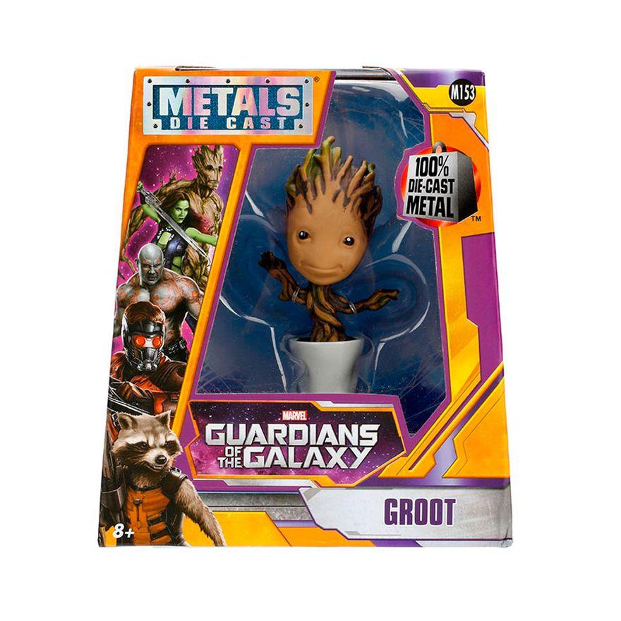 Figura-Colecionavel-10-Cm---Metals---Disney---Marvel---Guardioes-da-Galaxia---Groot-Baby---DTC