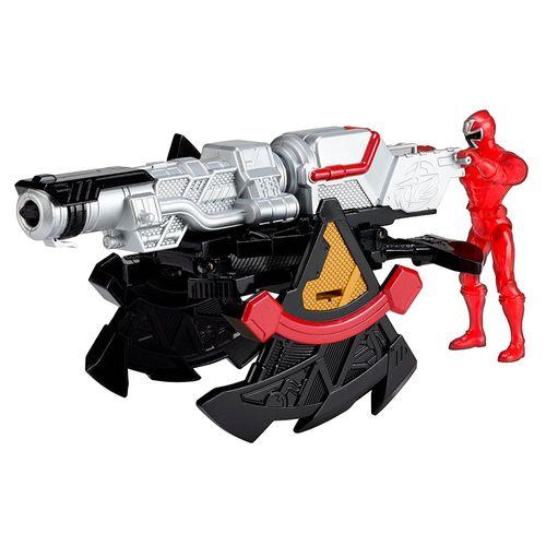 Morfador e Lançador com Figura Articulada - Power Rangers Ninja Steel - Ranger Vermelho - Sunny