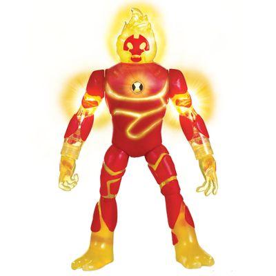Mini-Figura-Articulada-10-Cm---Ben-10---Heatblast---Com-Luzes---Sunny