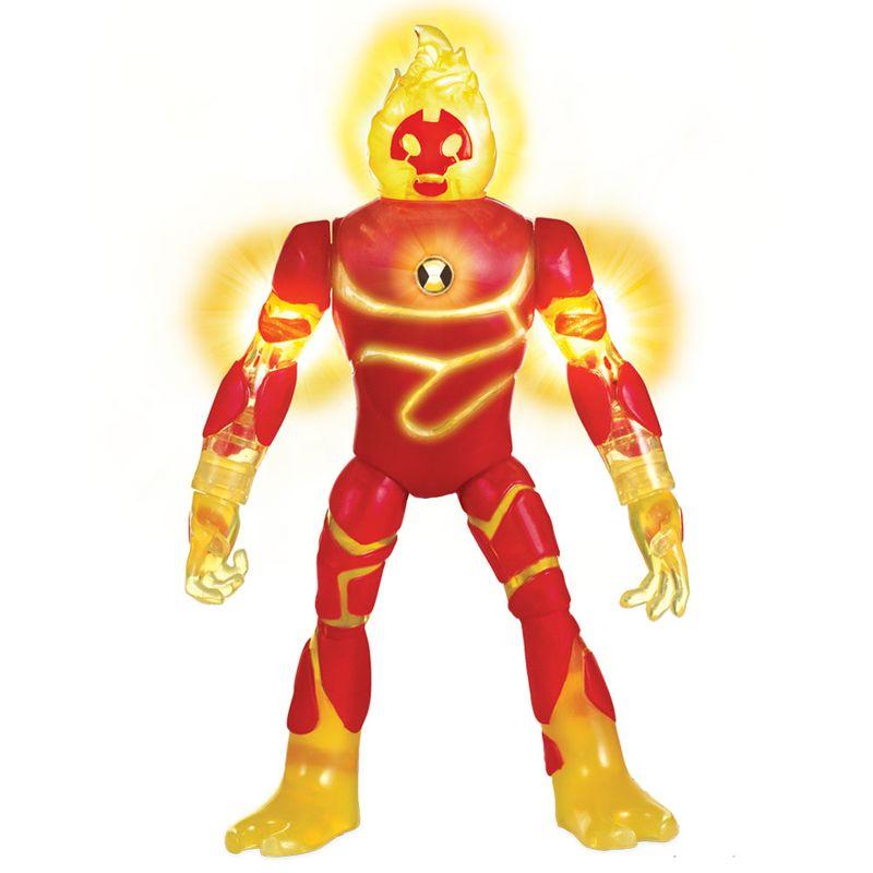 5626d689ac Mini Figura Articulada 10 Cm - Ben 10 - Heatblast - Com Luzes - Sunny - Ri  Happy Brinquedos