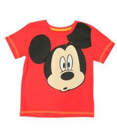 Camiseta-Manga-Curta-em-Meia-Malha---Vermelha---Be-Mickey---Disney---1