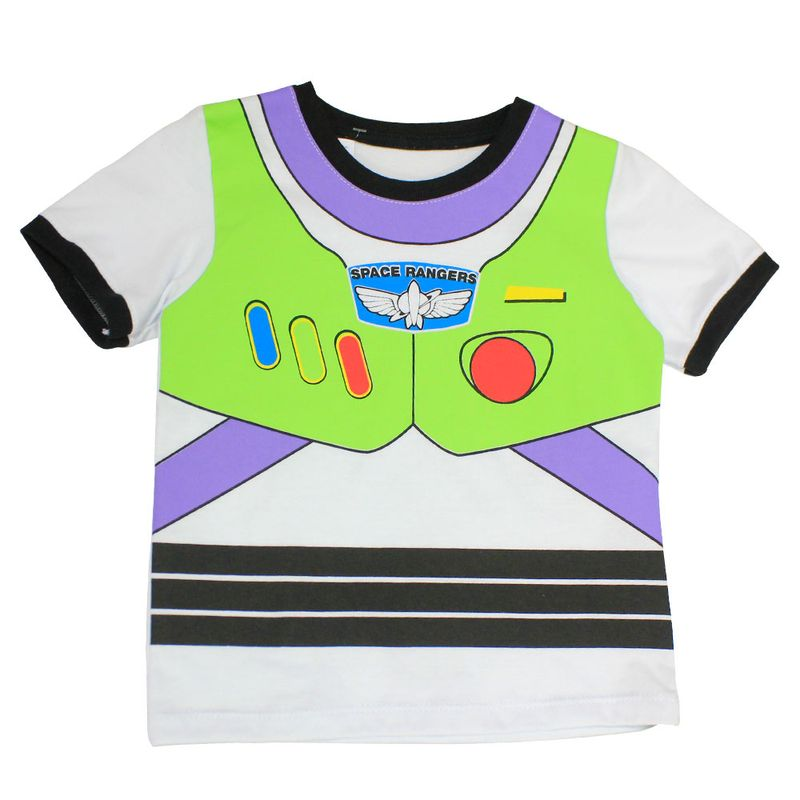 Camiseta Fantasia Manga Curta em Meia Malha - Branca e Preta - Buzz  Lightyear - Toy Story - Disney - Ri Happy Brinquedos 878c48330a684