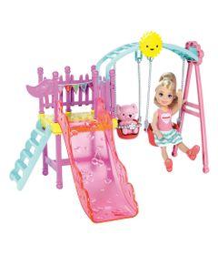 Playset-e-Mini-Boneca-Barbie---Chelsea-com-Balanco-e-Escorredor---Mattel
