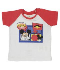 Camiseta-Manga-Curta-Reglan-em-Malha-Flame---Branco-e-Vermelho---Be-Mickey---Disney---M
