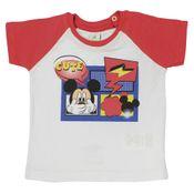 Camiseta-Manga-Curta-Reglan-em-Malha-Flame---Branco-e-Vermelho---Be-Mickey---Disney---P