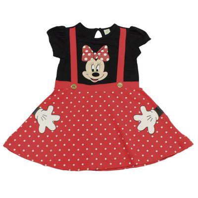 Vestido-Fantasia-Manga-Curta-em-Cotton-com-Poas---Preto-e-Vermelho---Minnie---Disney---1
