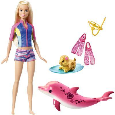 Boneca-30-Cm---Barbie-Golfinho-Magico---Barbie-com-Acessorios-de-Mergulho---Mattel