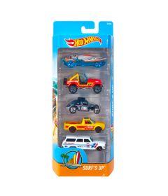 Carrinhos-Hot-Wheels---Pacote-com-5-Carros---SURF-S-UP-2017---Mattel