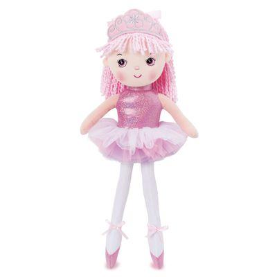 Boneca-de-Pano---45-cm---Princesa-Bailarina---Rosa---Buba