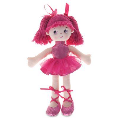 Boneca-de-Pano---42-cm---Bailarina-com-Glitter---Pink---Buba
