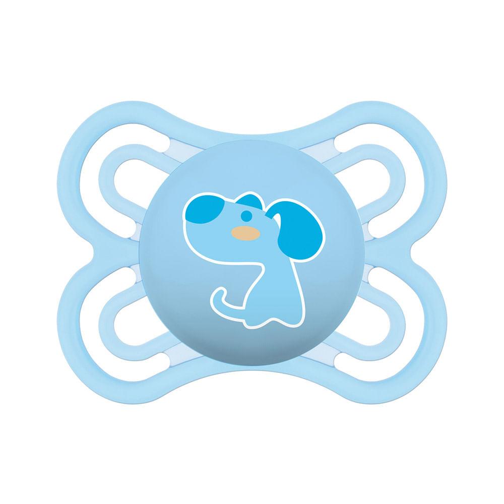 Chupeta Perfect Silicone - Fase 1 - Azul - Cachorrinho - MAM
