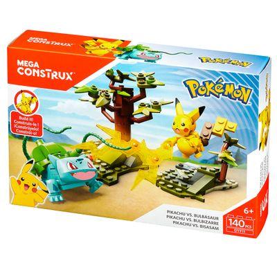 Blocos-de-Montar---Mega-Construx---Playset-de-Batalha---Pokemon---Pikachu-vs-Bulbassauro---Mattel