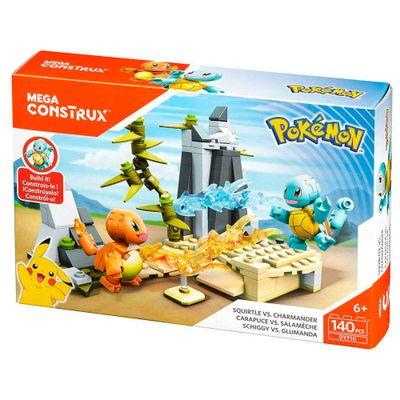 Blocos-de-Montar---Mega-Construx---Playset-de-Batalha---Pokemon---Squirtle-vs-Charmander---Mattel