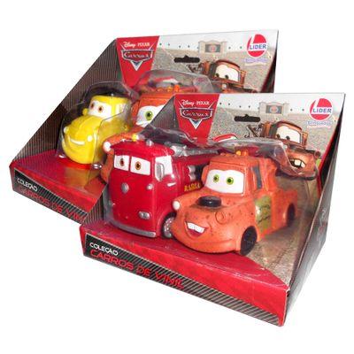 Kit-de-Carros-em-Vinil---Disney-Carros---Luigi-Red-e-2-Mate---Lider