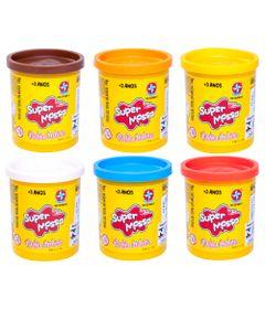 Kit-de-Potes-de-Super-Massa-de-140-g---Laranja-Branco-Azul-Claro-Marrom-Vermelho-e-Amarelo---Estrela