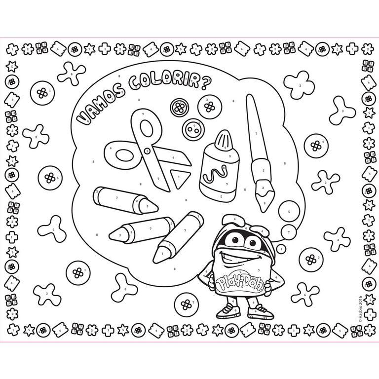 Kit De Artes E Atividades Play Doh Colorindo Os Numeros Lousa
