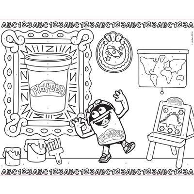 Kit De Artes E Atividades Play Doh Colorindo Os Números