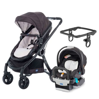 Travel-System-com-Adaptador---Urban-Plus-Keyfit-Night-e-Color-Pack-Plus---Sandshell---Chicco