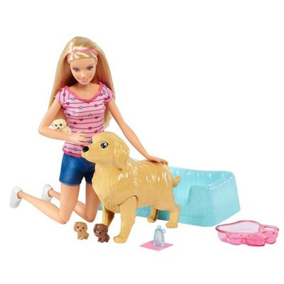 Boneca-Barbie-Family---Loira---Filhotinhos-Recem-Nascidos---Mattel