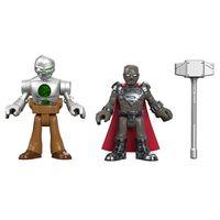 Figura-Imaginext---Liga-da-Justica---DC-Comics---Steel-e-Metallo---Mattel