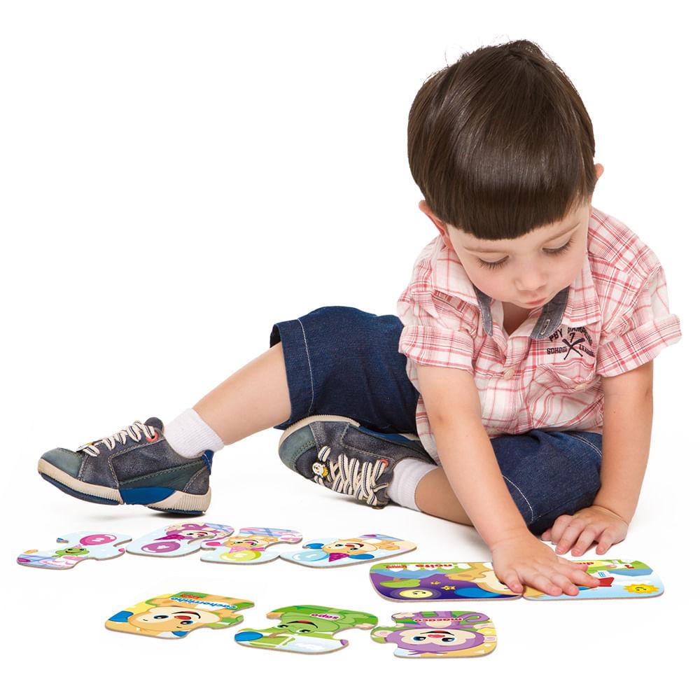 Meu Primeiro Quebra-Cabeça Progressivo - 2, 3 e 4 Peças - Aprender e Brincar - Fisher Price