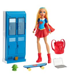 Playset-DC-Super-Hero-Girls---Armario-Escolar---Supergirl---Mattel