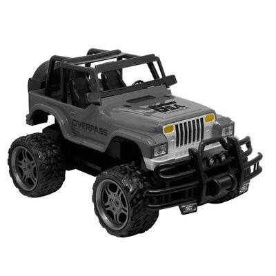 Carrinho-de-Controle-Remoto---Garagem-S-A---Jeep-Overpass---Cinza---Candide
