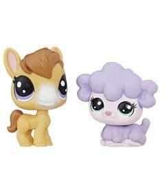 Mini-Figura---Littlest-Pet-Shop---Serie-1---Dru-McHoof-e-Kimmy-Lambton---Hasbro