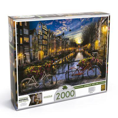 Quebra-Cabeca---2000-Pecas---Verao-em-Amsterda---Grow