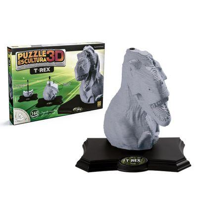 Quebra-Cabeca-3D---160-Pecas---Dinossauro-T-Rex---Grow