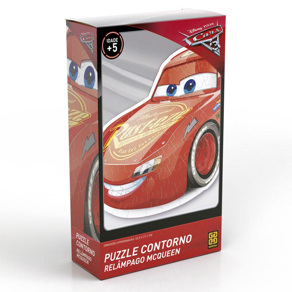 Quebra-Cabeça com Contorno - Disney - Carros 3 - Relâmpago McQueen - Grow