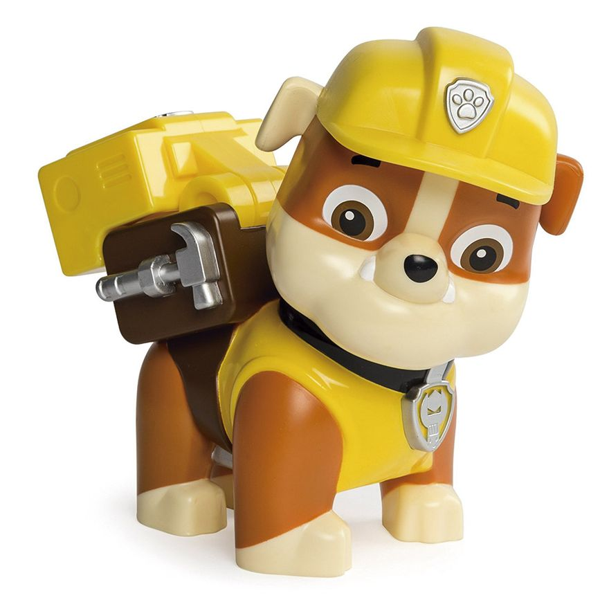 Boneco-Patrulha-Canina---Rubble-com-Lancador-Jumbo---Sunny