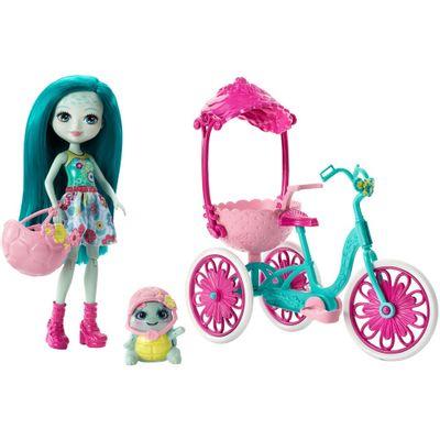 Boneca-Fashion-e-Veiculo---Enchantimals---Talee-Turtle---Mattel