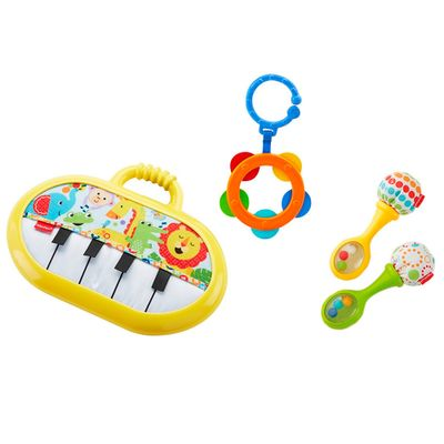 Conjunto-de-Mordedores-e-Chocalhos---Kit-Musical---Fisher-Price