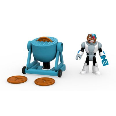 Mini-Figura-e-Veiculo---Imaginext---DC-Comics---Teen-Titans-Go---Ciborg---Fisher-Price