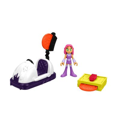 Mini-Figura-e-Veiculo---Imaginext---DC-Comics---Teen-Titans-Go---Estelar---Fisher-Price