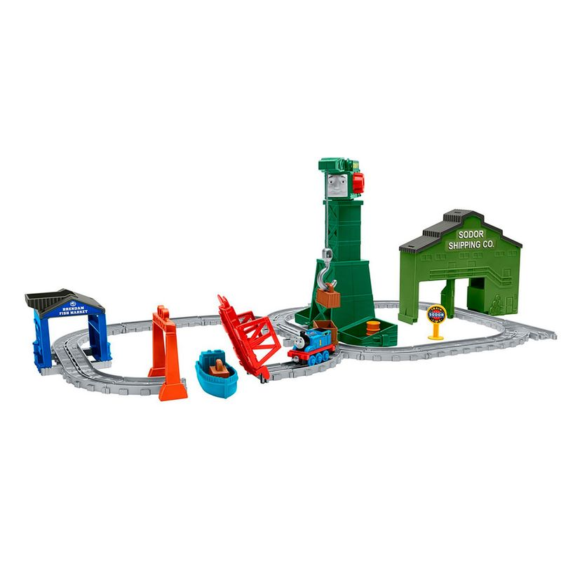 ca74aa3ff Pista de Percurso - Thomas & Friends - Ferrovia do Porto - Fisher-Price -  Ri Happy Brinquedos
