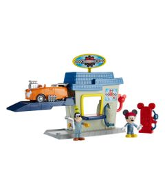 Playset-e-Figuras---Disney---Mickey-Aventura-Sobre-Rodas---Pit-Stop-do-Mickey---Fisher-Price